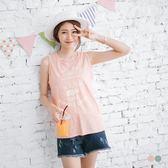 《AB3528》台灣製造.竹節紋英文拼字燙印高含棉無袖上衣 OrangeBear