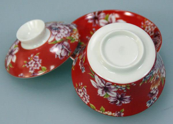 鹿港窯~居家開運商品~三希(台灣製)台灣紅小蓋杯;購物清單:1個