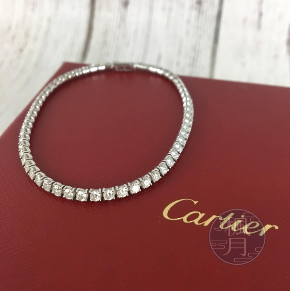 BRAND楓月 Cartier 卡地亞 K18 白金 LIGNES ESSENTIELLES手環 手鍊 全鑽 配飾