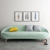 三人沙發 網紅風沙發 小戶型客廳現代簡約三人雙人整裝 北歐粉綠色沙發T 4色 交換禮物