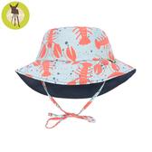 德國Lassig-嬰幼兒抗UV海灘遮陽帽-小龍蝦