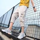 束腳褲 工裝短褲男士2021新款韓版潮流夏季外穿五分七分褲休閑運動束腳褲
