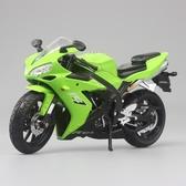 雅馬哈R1寶馬川崎仿真1:12拼裝合金摩托賽車機車模型男孩玩具擺件