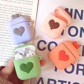 蘋果 糖果愛心款 AirPods 保護套 Apple藍牙耳機盒保護套 矽膠保護套