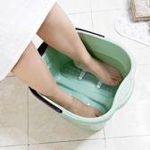加高足浴桶塑料足浴盆腳底按摩滾輪泡腳桶大號 家用洗腳桶洗腳盆wy