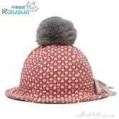 春秋兒童太陽帽女童漁夫帽寶寶遮陽帽子小孩盆帽公主帽大球帽童帽   蜜拉貝爾