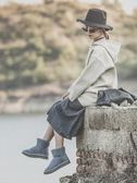 冬季新款女靴百搭韓版短筒短靴加絨加厚棉鞋女學生雪地靴