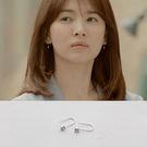 耳環 太陽的後裔同款 韓版U型水鑽耳環【TSES691】 ICOCO  03/31