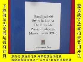 二手書博民逛書店Handbook罕見Of Style;In Use At The
