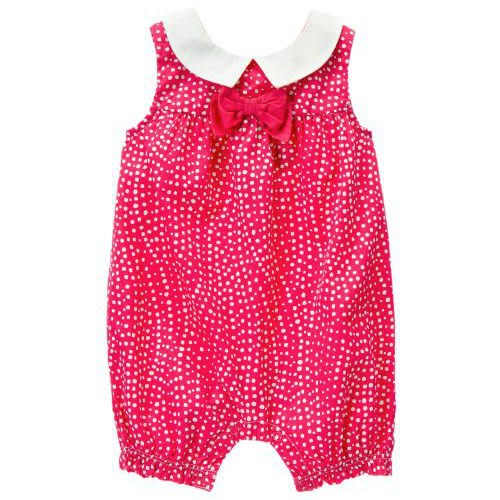Gymboree 美國童裝 連身衣 包屁衣 桃紅色點點 12-18M