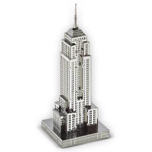 ★funbox玩具★METALLIC NANO PUZZLE 金屬微型模型拼圖 08 美國帝國大廈 NO21908