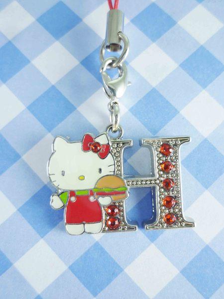 【震撼精品百貨】Hello Kitty 凱蒂貓~KITTY手機吊飾-KITTY英文字母造型-H