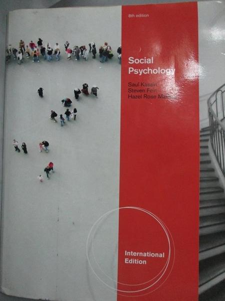 【書寶二手書T1/大學理工醫_QDG】Social Psychology-International Edition(8/e)_Hazel Markus