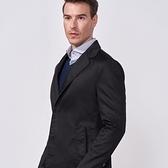 SST&C 男裝 黑色風衣外套 | 0612009004