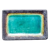 日本 綠彩燒物盤 21.5cm