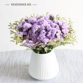 勿忘我滿天星亁花帶陶瓷花瓶真花花束客廳裝飾家居擺設花生日禮物  魔法鞋櫃