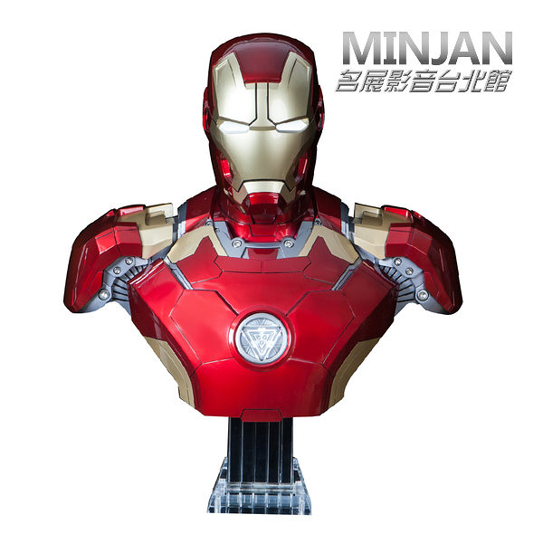 【台北視聽音響/名展影音】預約訂做限量款漫威英雄系列 ╮鋼鐵人Mark43 BUST半身胸像1:1藍牙喇叭