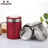 304不銹鋼保溫杯泡茶杯有手柄喝水大口徑容量把500ml 居樂坊生活館