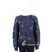 SPORTMAX 深藍色亮片裝飾設計長袖上衣 1440511-85
