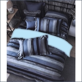 【免運】精梳棉 雙人加大 薄床包被套組 台灣精製 ~品味時尚/藍~
