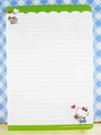 【震撼精品百貨】Hello Kitty 凱蒂貓~kitty便條紙-禮物綠(大)