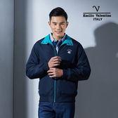 Emilio Valentino 范倫鐵諾經典防風鋪棉保暖外套(丈青)
