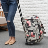 拉桿包 女大容量拉桿袋輕便旅行包旅行袋手提包拖拉包行李包男【快速出貨】