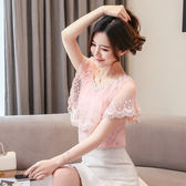 【GZ52】雪紡衫短袖女裝春夏裝新款洋氣很仙的仙女上衣服超仙甜美小衫