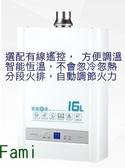 櫻花牌 智能恆溫熱水器 DH1637A16L