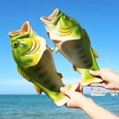 咸魚拖鞋女個性搞怪潮流網紅龍蝦魚形鞋學生男生女生魚鞋一字拖夏 蘿莉新品