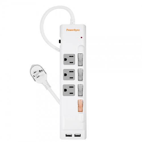 群加 PowerSync 四開三插防雷擊USB延長線 (TPS343UB9018) (1.8M)