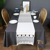 桌巾 北歐ins現代簡約樣板間餐桌布藝電視櫃茶几蓋巾床尾巾流蘇桌旗布