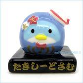 asdfkitty可愛家☆山姆企鵝達摩/福神造型迷你陶瓷擺飾/裝飾品-日本正版商品