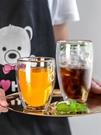 早餐杯 貓廚透明雙層隔熱玻璃杯男家用耐熱大號水杯子奶茶杯早餐杯喝水杯【快速出貨八折下殺】