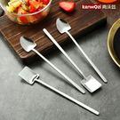 304不銹鋼長柄小勺子創意可愛咖啡勺攪拌勺甜品勺歐式小奢華2支裝