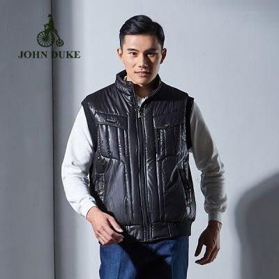 JOHN DUKE約翰公爵騎士立領鋪棉防風背心 (黑)