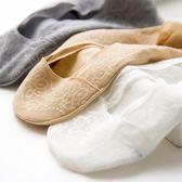蕾絲船襪女薄款純棉底硅膠防滑淺口隱形襪子
