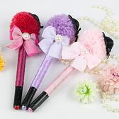 婚禮用品 淑女毛帽造型蝴蝶結 婚禮簽名筆