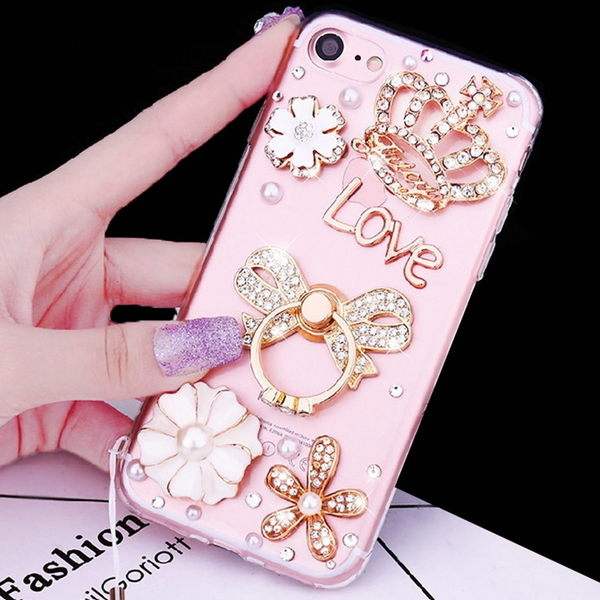 華為 Mate10 Pro nova 2i Y7 P10 Plus LG V30+ Q6 Nokia8 VIVO V7 手機殼 軟殼 訂做 彩鑽支架空壓鑽殼