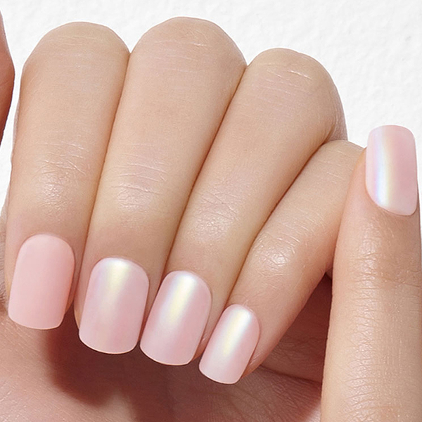 Dashing Diva 光療薄型美甲片-粉紅珍珠