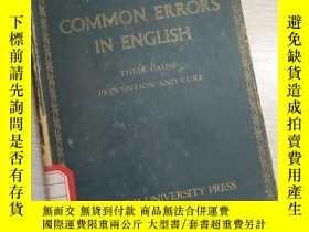 二手書博民逛書店COMMON罕見ERRORS IN ENGLISH (英文)Y16149