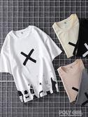 男士T恤 2019新款夏季短袖t恤男士上衣服寬鬆半袖韓版五分袖潮流學生體恤 polygirl