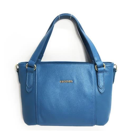 《高仕皮包》【免運費】BERNIS藍色-荔枝紋牛皮 手提斜側籃型包BNA17012-BL