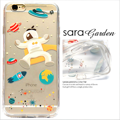 (24H) 客製 星球 飛碟 太空 外星人 防塵塞 iPhone 6 6S Plus 手機殼 TPU 軟殼 保護殼 Sara Garden【C0908042】