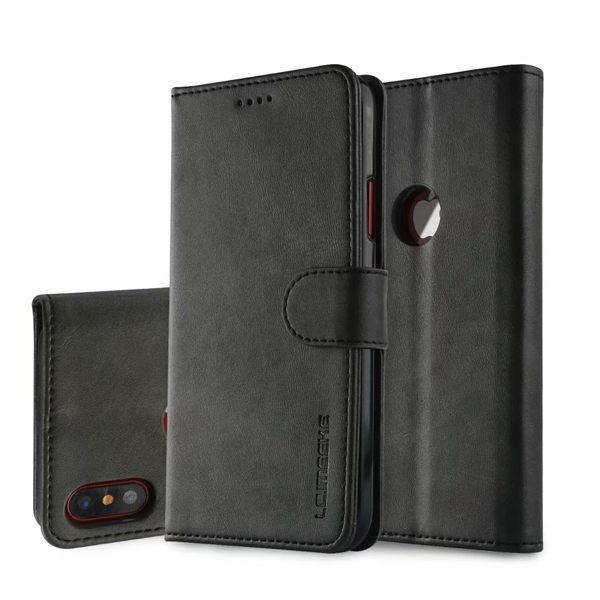 蘋果 iPhoneX SE2 XS MAX XR i8 Plus i7 小牛紋翻蓋 手機皮套 手機殼 翻蓋 插卡 支架 磁扣 皮套 保護套