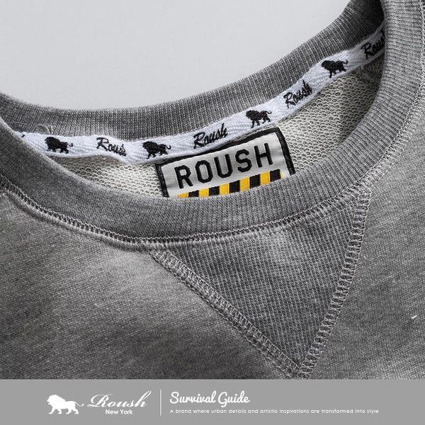 【Roush】 圓弧剪裁長版厚棉大學TEE -【712561】