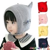 寶寶帽子嬰兒加絨毛線帽-可愛貓咪耳朵造型保暖護耳帽-JoyBaby