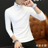 中大尺碼 長袖T桖韓版潮流冬天高領打底衫 WD3507【衣好月圓】