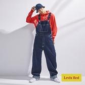 Levis Red 工裝手稿風復刻再造 男款 復古寬鬆版牛仔吊帶工作褲 / 原色 / 寒麻纖維