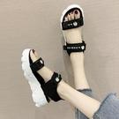 小雛菊運動厚底涼鞋女ins潮2021年新款夏天時尚學生鬆糕沙灘鞋子 百分百